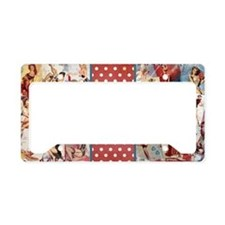 Pin-Up_Red-01 License Plate Holder