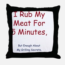 rub Throw Pillow