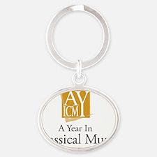 calendar Oval Keychain