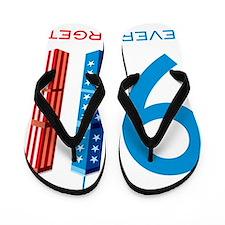 911 NEVER FORGET Flip Flops