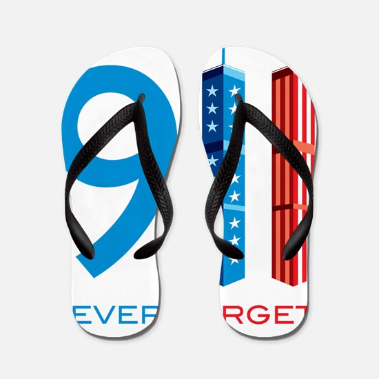 911 NEVER FORGET Flip Flops