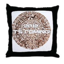 maya clock 2012 its coming Throw Pillow