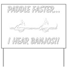banjos-dark Yard Sign