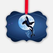 Wall Peels Leaping Orca and Moon  Ornament