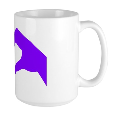 lovesignnoword-pur Large Mug