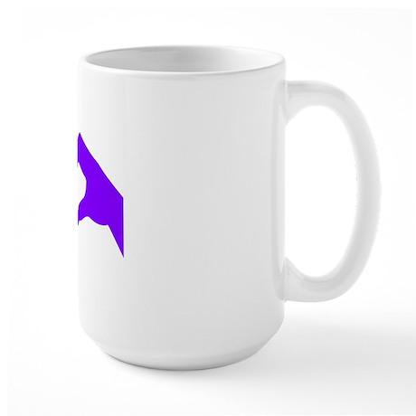 lovesignnoword-pur Large Mug