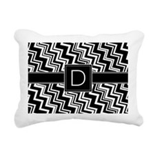 D_zig_inital_02 Rectangular Canvas Pillow