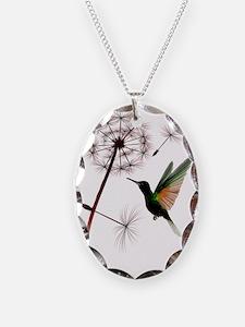 Dandelion and Hummingbird Tran Necklace