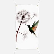 Dandelion and Hummingbird Trans Banner