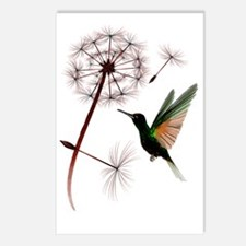 Dandelion and Hummingbird Postcards (Package of 8)