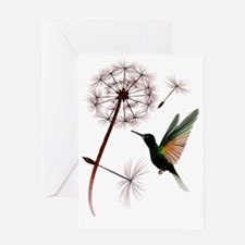 Dandelion and Hummingbird Trans Greeting Card