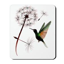 Dandelion and Hummingbird Trans Mousepad