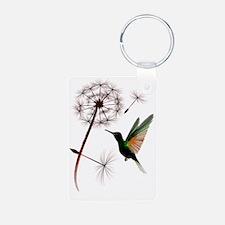 Dandelion and Hummingbird  Keychains