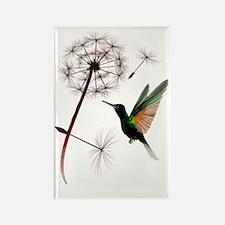 Dandelion and Hummingbird Trans Rectangle Magnet