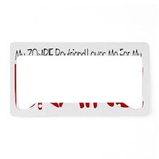 ZombieBoyfriend_2b License Plate Holder