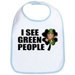 I See Green People Leprechaun Bib
