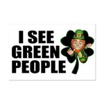 I See Green People Leprechaun Mini Poster Print