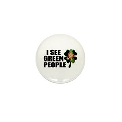 I See Green People Leprechaun Mini Button (10 pack