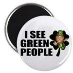 I See Green People Leprechaun Magnet