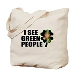 I See Green People Leprechaun Tote Bag