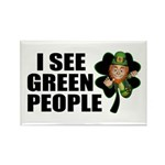 I See Green People Leprechaun Rectangle Magnet (10