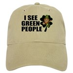 I See Green People Leprechaun Cap