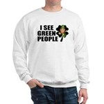 I See Green People Leprechaun Sweatshirt