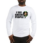 I See Green People Leprechaun Long Sleeve T-Shirt