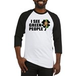 I See Green People Leprechaun Baseball Jersey