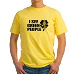 I See Green People Leprechaun Yellow T-Shirt