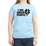 I See Green People Leprechaun Women's Light T-Shir