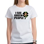 I See Green People Leprechaun Women's T-Shirt