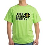I See Green People Leprechaun Green T-Shirt