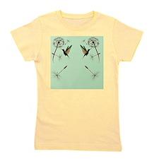 Dandelion and Hummingbird_flip_flopsP Girl's Tee