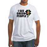 I See Green People Leprechaun Fitted T-Shirt