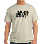 I See Green People Leprechaun Light T-Shirt