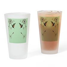 Dandelion and Hummingbird_flip_flop Drinking Glass