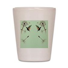 Dandelion and Hummingbird_flip_flopsP Shot Glass