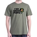 I See Green People Leprechaun Dark T-Shirt