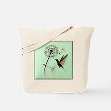 Dandelion and Hummingbird_pillow Tote Bag