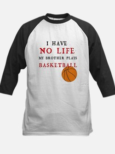 No Life....Basketball Kids Baseball Jersey