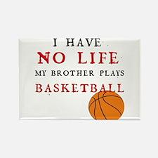 No Life....Basketball Rectangle Magnet