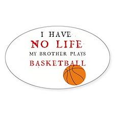 No Life....Basketball Oval Decal