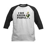 I See Green People Saint Pat's Kids Baseball Jerse