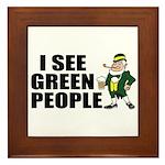 I See Green People Saint Pat's Framed Tile