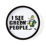 I See Green People Saint Pat's Wall Clock