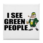 I See Green People Saint Pat's Tile Coaster