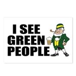 I See Green People Saint Pat's Postcards (Package