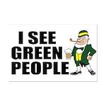 I See Green People Saint Pat's Mini Poster Print