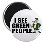 I See Green People Saint Pat's Magnet